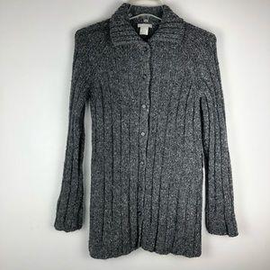 J.Crew Wool Blend Long Sleeve Button Sweater
